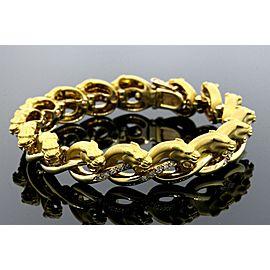 "Carrera Y Carrera Panther Diamond Bracelet 18k Yellow gold 6.75"" 63.3g Heavy"