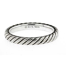 David Yurman Band Ring Cable Classic Sterling Silver Stackable size 5