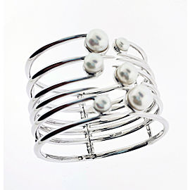 Stephen Webster Jewels Verne Bonafide Stone fresh water pearls Bangle silver