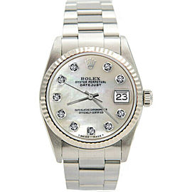 Rolex Datejust 31mm 78274 Lady Stainless Steel Automatic White MOP 1YrWarranty