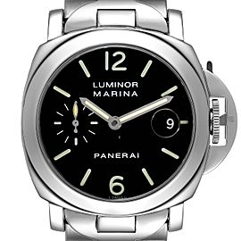 Panerai Luminor Marina Automatic 40mm Steel Mens Watch PAM00050 Box Papers