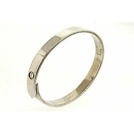 2001 Cartier Anniversary Bangle Bracelet Diamond Size 17 18k White Gold Love