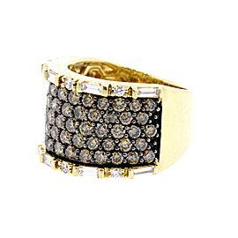 Levian 3.02ct Diamond Wide Band Ring 14k Yellow Gold Chocolate & White size 7