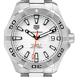 Tag Heuer Aquaracer White Dial Steel Mens Watch WAY2013 Box Card