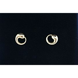 Tiffany & Co. Stud Earrings Elsa Peretti Eternal Circle 18k Yellow Gold & Box