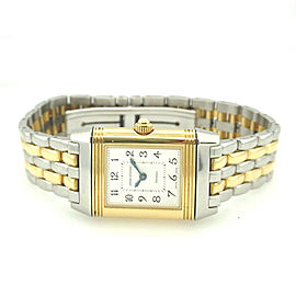 Jaeger LeCoultre Reverso 18k Yellow Gold and Steel Ladies Watch