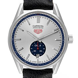 Tag Heuer Carrera Heritage Silver Dial Steel Mens Watch WV5111 Box Papers