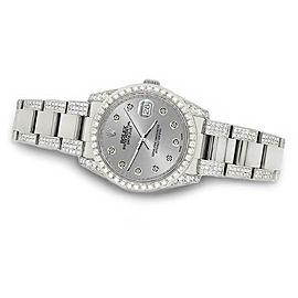 Rolex Datejust 36mm 5.9ct Diamond Bezel/Lugs/Bracelet/Silver Dial