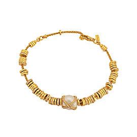"""FRED PARIS """"Baie Des Anges"""" 18k Y Gold Diamond & Pearl Bracelet"""