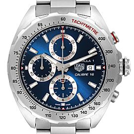 Tag Heuer Formula 1 Chronograph Blue Dial Steel Watch CAZ2015 Box Papers