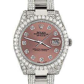 Rolex Datejust II 41mm 10.3CT Diamond Bezel/Case/Bracelet/Salmon Dial