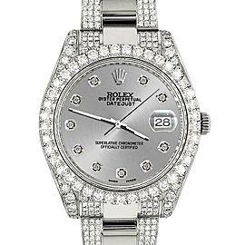 Rolex Datejust II 41mm 10.3CT Diamond Bezel/Case/Bracelet/Silver Dial