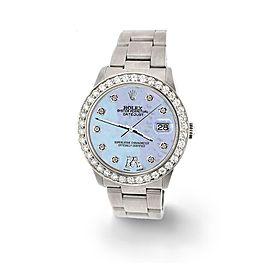 Rolex Datejust Midsize 31mm 1.52ct Bezel/Purple MOP Diamond Roman VI Dial Watch