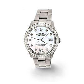 Rolex Datejust Midsize 31mm 1.52ct Bezel/White MOP Diamond Roman VI Dial Watch