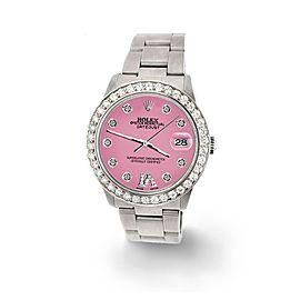 Rolex Datejust Midsize 31mm 1.52ct Bezel/Hot Pink Diamond Roman VI Dial Watch