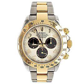 Rolex Cosmograph Daytona 2-Tone Panda Dial 40mm Watch 116523