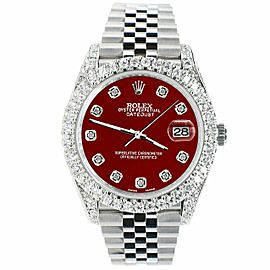 Rolex Datejust 41mm 5.9CT Bezel/Lugs/Sides/Imperial Red Dial 126300