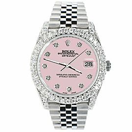 Rolex Datejust 41mm 5.9CT Bezel/Lugs/Sides/Orchid Pink Dial 126300