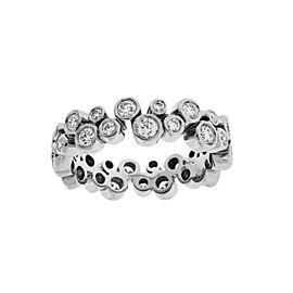 Tiffany & Co Bubbles Diamond Eternity Ring / Wedding Band In Platinum
