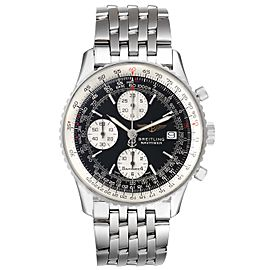 Breitling Navitimer II Black Dial Chronograph Steel Mens Watch A13322