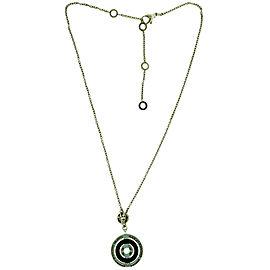 Bvlgari Bulgari Cerchi 18K White Gold Pave Diamond Necklace With Certificate