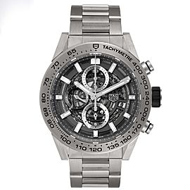 TAG Heuer Carrera Calibre Heuer 01 Skeleton Mens Watch CAR2A8A Box Papers