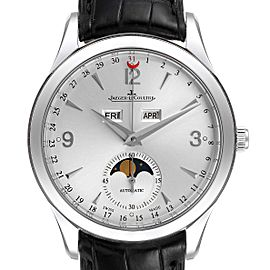 Jaeger Lecoultre Master Moon Tripple Date Calendar Watch Q1558420 Box Papers