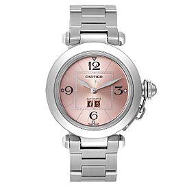 Cartier Pasha Big Date 35mm Pink Dial Steel Ladies Watch