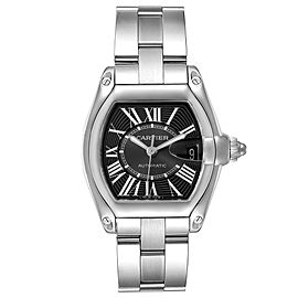 Cartier Roadster Black Dial Large Steel Mens Watch W62041V3 Box Papers
