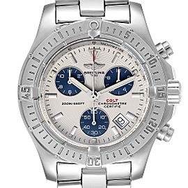 Breitling Colt Chronograph Blue Subdials Steel Mens Watch A73380
