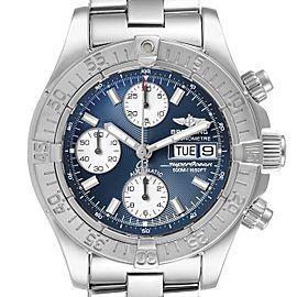 Breitling Aeromarine Superocean Blue Dial Steel Mens Watch