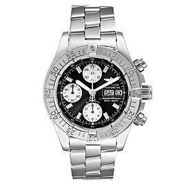 Breitling Aeromarine Superocean Black Dial Steel Mens Watch