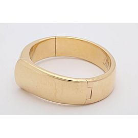 Fred of Paris 18K Yellow Gold Folded Handkerchief Bangle Bracelet
