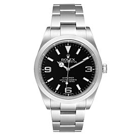 Rolex Explorer I 39mm Automatic Black Dial Steel Mens Watch