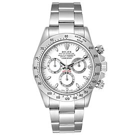 Rolex Daytona White Dial Chronograph Steel Mens Watch 116520 Box Card