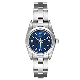 Rolex Oyster Perpetual 24 Nondate Blue Dial Ladies Watch