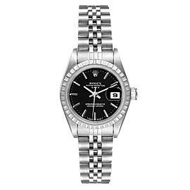Rolex Date Black Dial Jubilee Bracelet Steel Ladies Watch