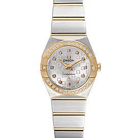 Omega Constellation Steel Yellow Gold Diamond Watch 123.25.24.60.52.001