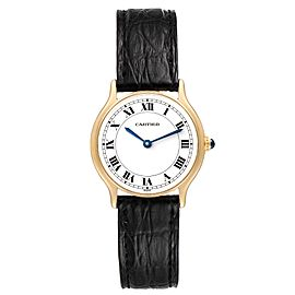 Cartier Ronde Paris 18K Yellow Gold Ladies Vintage Watch