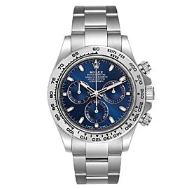 Rolex Cosmograph Daytona White Gold Blue Dial Mens Watch