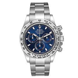 Rolex Cosmograph Daytona White Gold Blue Dial Mens Watch