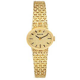 Rolex 14k Yellow Gold Champagne Dial Vintage Cocktail Ladies Watch