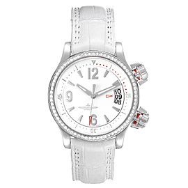 Jaeger Lecoultre Master Compressor White Dial Diamond Ladies Watch 148.8.60