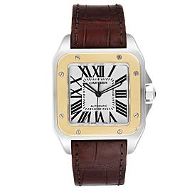 Cartier Santos 100 Steel Yellow Gold 38mm Mens Watch