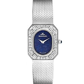 Jaeger LeCoultre 18k White Gold Diamond Bezel Cocktail Ladies Watch