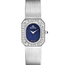 Jaeger LeCoultre 18k White Gold Diamond Bezel Cocktail Ladies Watch