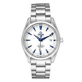 Omega Seamaster Aqua Terra Blue Hands Steel Mens Watch