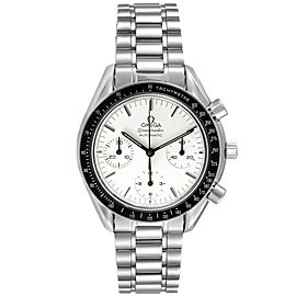 Omega Speedmaster Reduced Albino White Dial Mens Watch