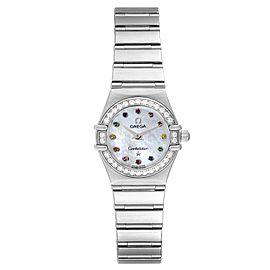 Omega Constellation Iris Steel Multi Stone Ladies Watch