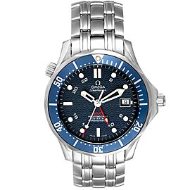 Omega Seamaster Bond 300M GMT Blue Dial Steel Mens Watch
